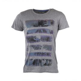 T-shirt manches courtes bandes palmiers homme BEST MOUNTAIN