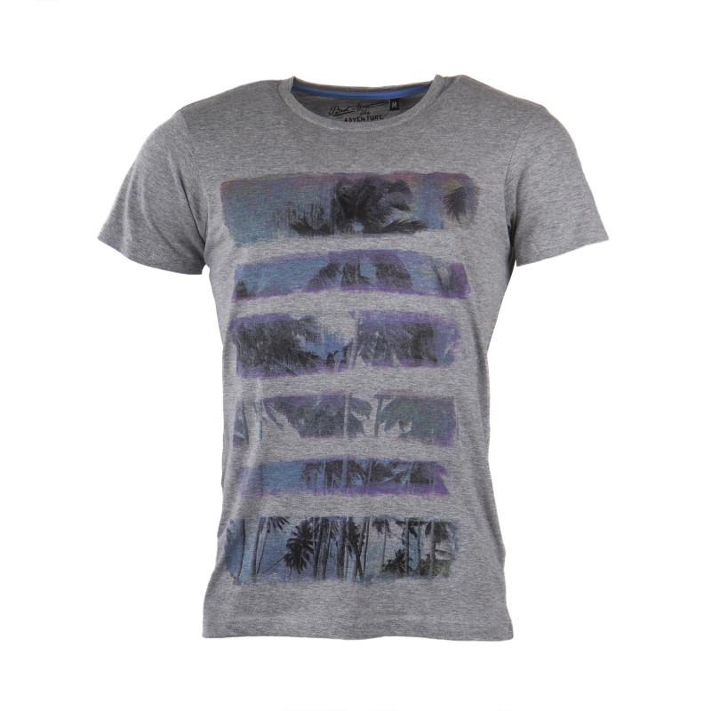 T-shirt manches courtes bandes palmiers homme BEST MOUNTAIN marque pas cher prix dégriffés destockage