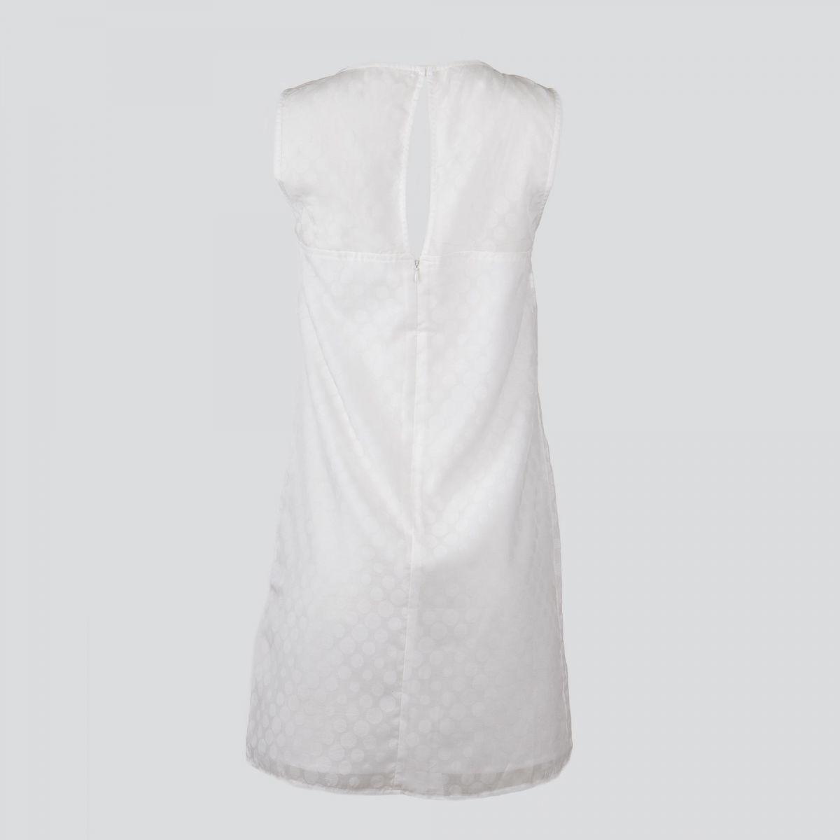 robe blanche pois femme ddp prix d griff. Black Bedroom Furniture Sets. Home Design Ideas
