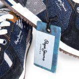 Basket bleu jean enfant PEPE JEANS marque pas cher prix dégriffés destockage