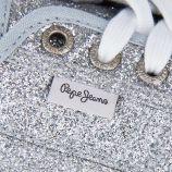 Tennis basses paillettes femme Pepe Jeans marque pas cher prix dégriffés destockage
