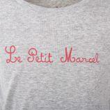 Tee-shirt manches courtes gris fille LITTLE MARCEL marque pas cher prix dégriffés destockage