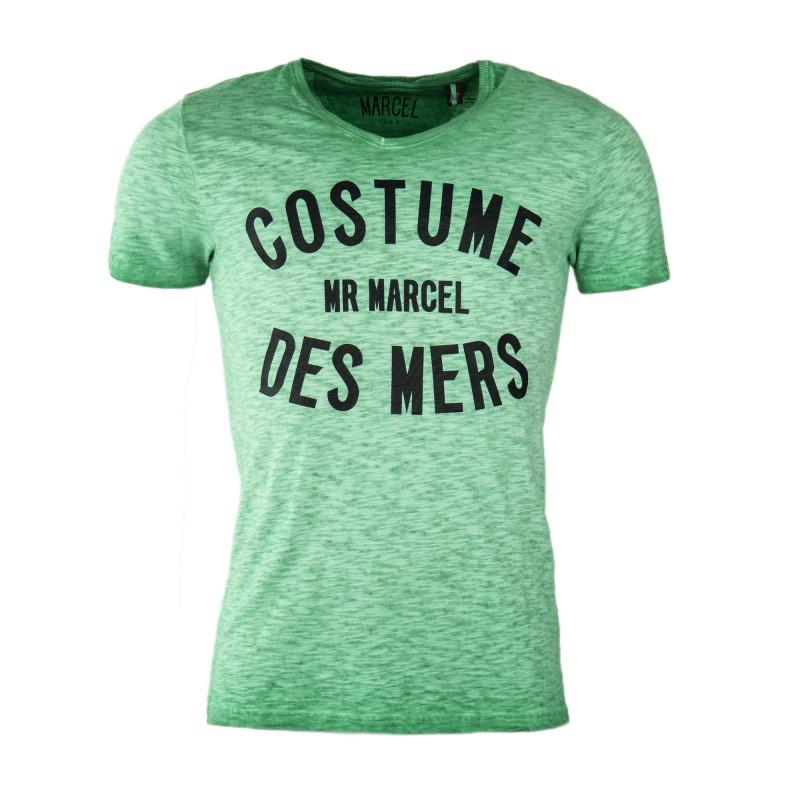 Tee shirt délavé avec inscription homme LITTLE MARCEL marque pas cher prix dégriffés destockage