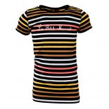 Tee-shirt manches courtes rayé fille LITTLE MARCEL marque pas cher prix dégriffés destockage