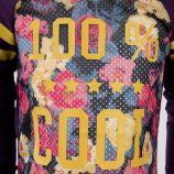 Tee shirt manches longues motif floral fille LITTLE MARCEL marque pas cher prix dégriffés destockage