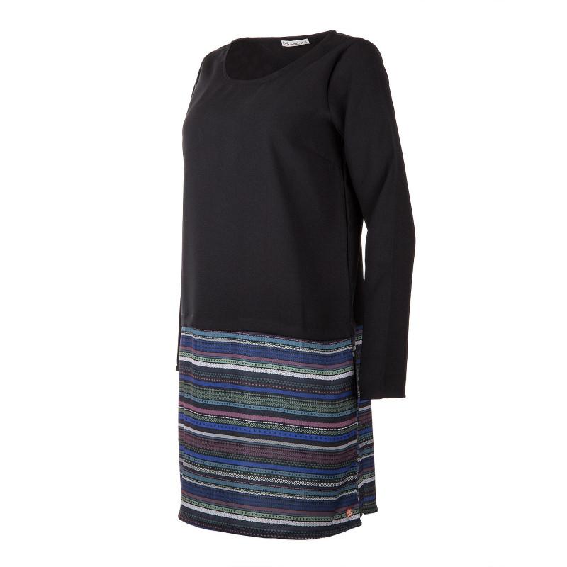 86c1c716ae9f Robe noire et motifs aztèques femme LITTLE MARCEL marque pas cher prix  dégriffés destockage