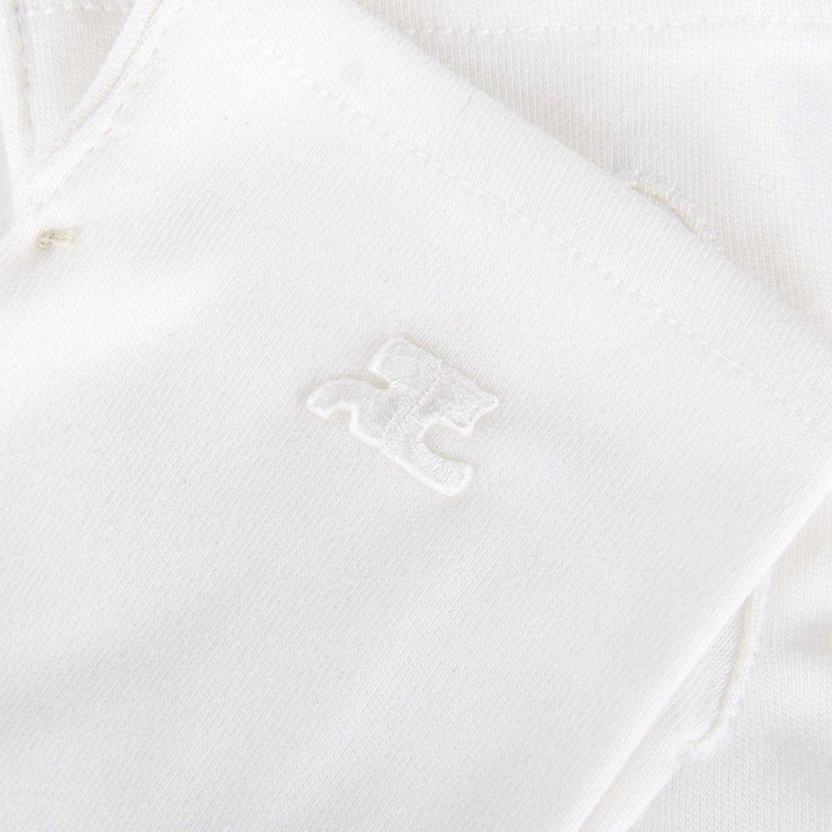 De Femme Prix Courreges Paire Gants Blancs Dégriffé À DH2EI9