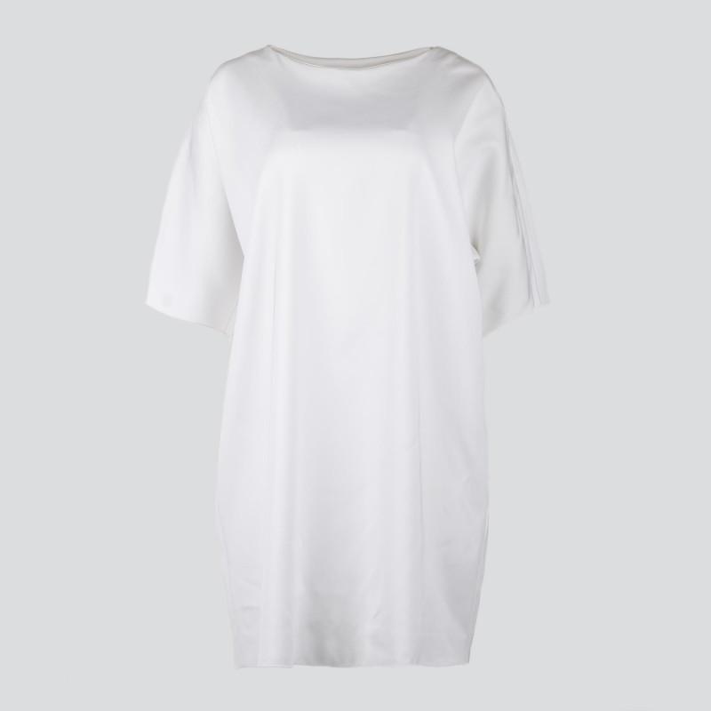 Robe oversize blanche manches courtes femme marque pas cher prix dégriffés destockage