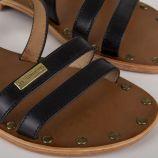 Sandales en cuir femme HELIOS LES TROPEZIENNES marque pas cher prix dégriffés destockage