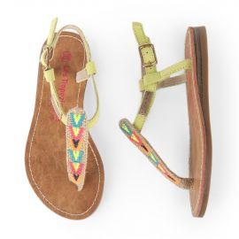 Sandales aztèques fille LES TROPEZIENNES marque pas cher prix dégriffés destockage
