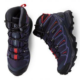 Chaussures de marche violette femme SALOMON marque pas cher prix dégriffés destockage