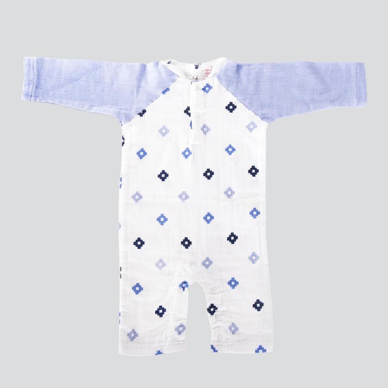 Combinaison bleu et blanc bébé ADEN + ANAIS marque pas cher prix dégriffés destockage