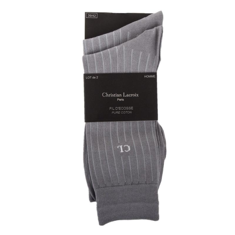 Lot de 2 paires de chaussettes homme CHRISTIAN LACROIX marque pas cher prix dégriffés destockage