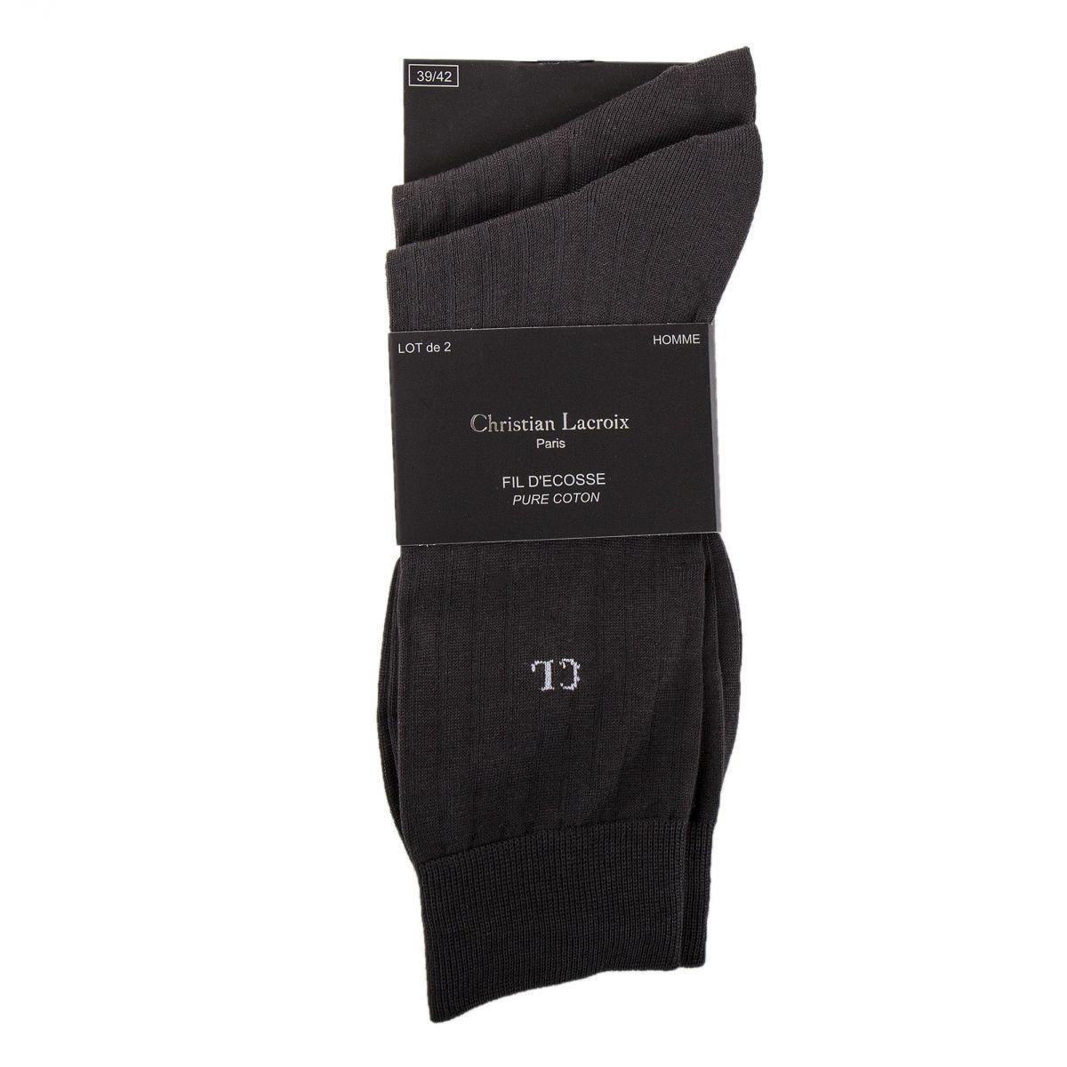 lot de 2 paires de chaussettes homme christian lacroix prix. Black Bedroom Furniture Sets. Home Design Ideas