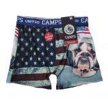Boxer drapeau américain homme CAMPS UNITED marque pas cher prix dégriffés destockage