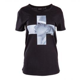 Tee shirt floqué Lady Gaga femme ARTISTS marque pas cher prix dégriffés destockage