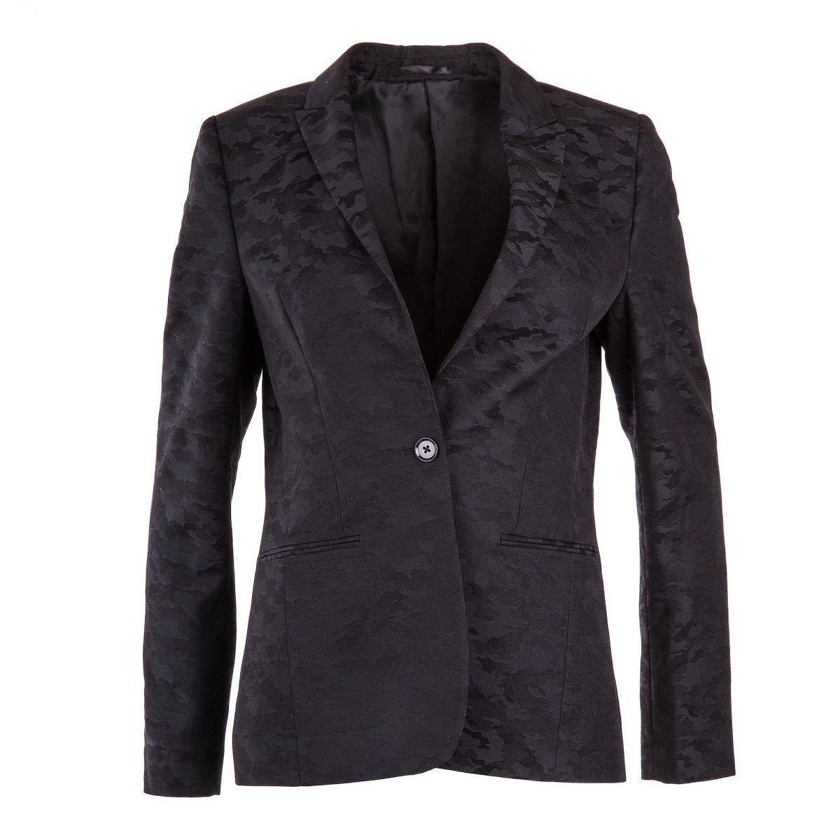 blazer noir imprim camouflage femme artists prix d griff. Black Bedroom Furniture Sets. Home Design Ideas