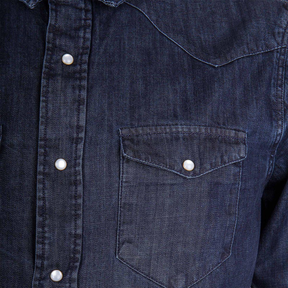 chemise en jean bleu brut homme artists prix d griff. Black Bedroom Furniture Sets. Home Design Ideas