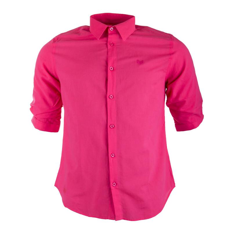 Chemise en coton manches 3/4 homme HBT marque pas cher prix dégriffés destockage