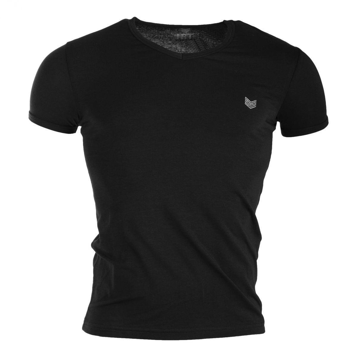 tee shirt col v manches courtes homme hbt prix d griff. Black Bedroom Furniture Sets. Home Design Ideas