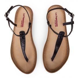 Sandales noires entre-doigt NARVIL femme LES TROPEZIENNES