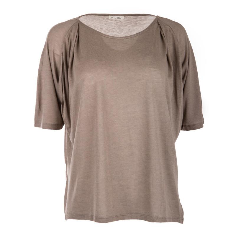 Tee shirt à manches courtes fluide femme AMERICAN VINTAGE marque pas cher prix dégriffés destockage
