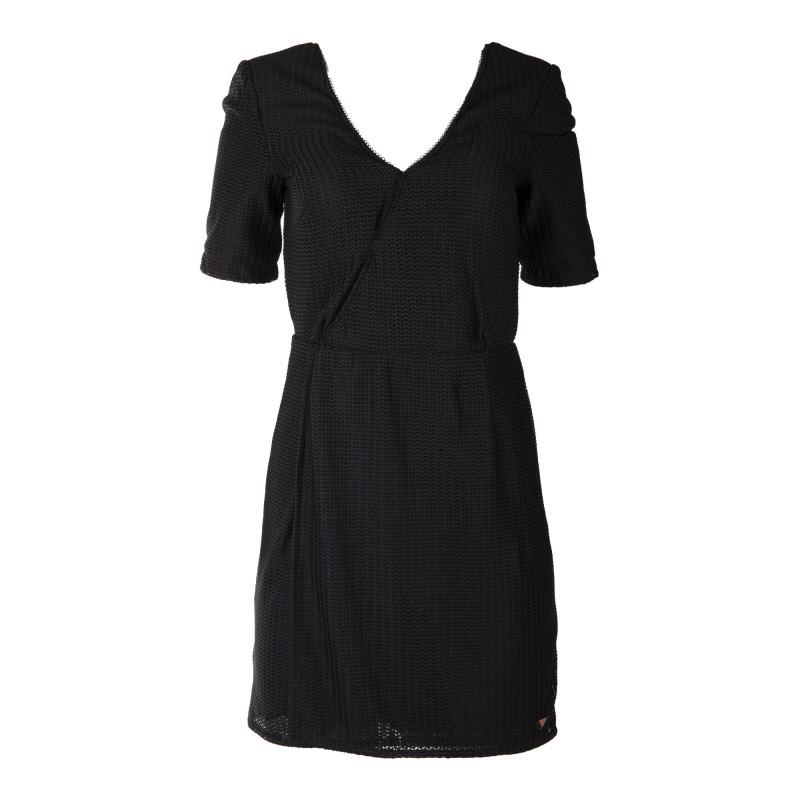 Robe noire portefeuille femme ON YOU marque pas cher prix dégriffés destockage
