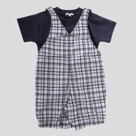 Ensemble salopette tee shirt bébé ABSORBA