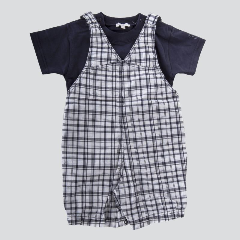 Ensemble salopette tee shirt bébé ABSORBA marque pas cher prix dégriffés destockage