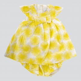 Ensemble tunique et short jaune bébé ABSORBA
