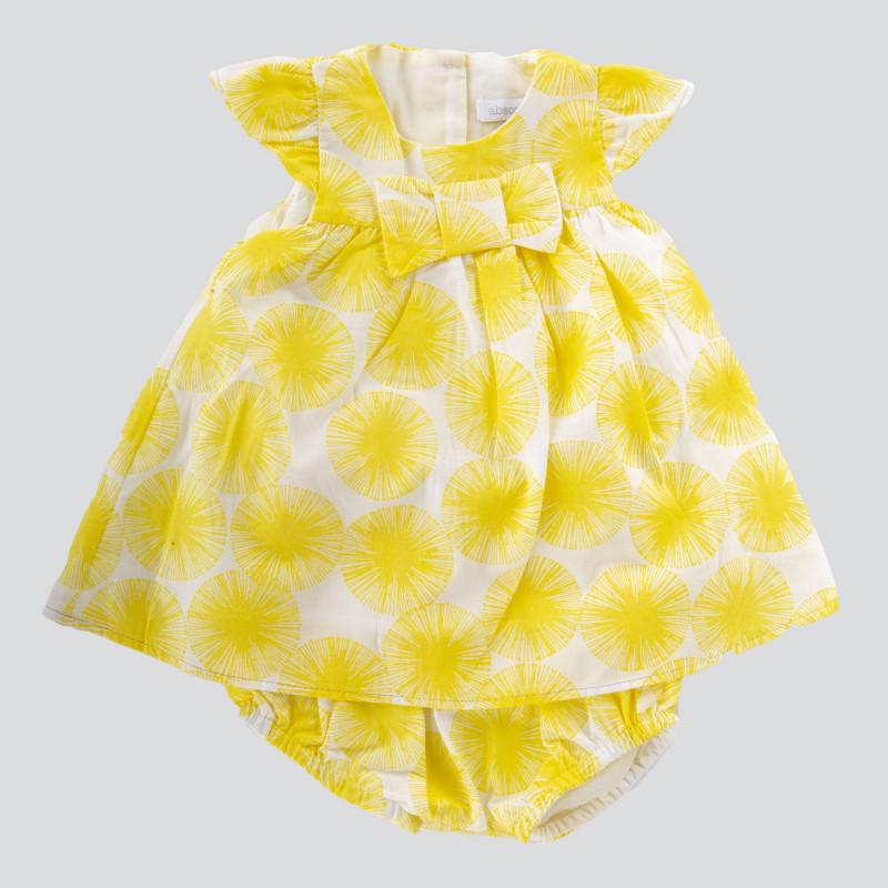 Ensemble tunique et short jaune bébé ABSORBA marque pas cher prix dégriffés destockage