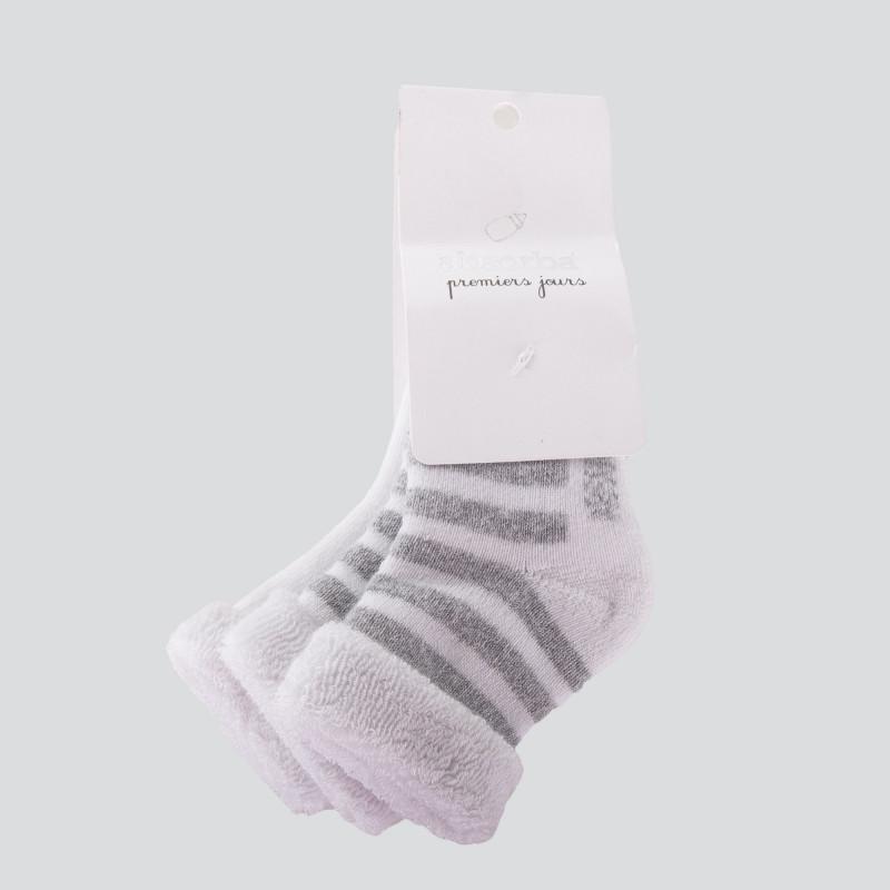 Lot de 2 paires de chaussettes bébé ABSORBA marque pas cher prix dégriffés destockage