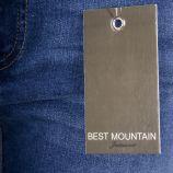 Jean slim bleu style motard femme BEST MOUNTAIN marque pas cher prix dégriffés destockage