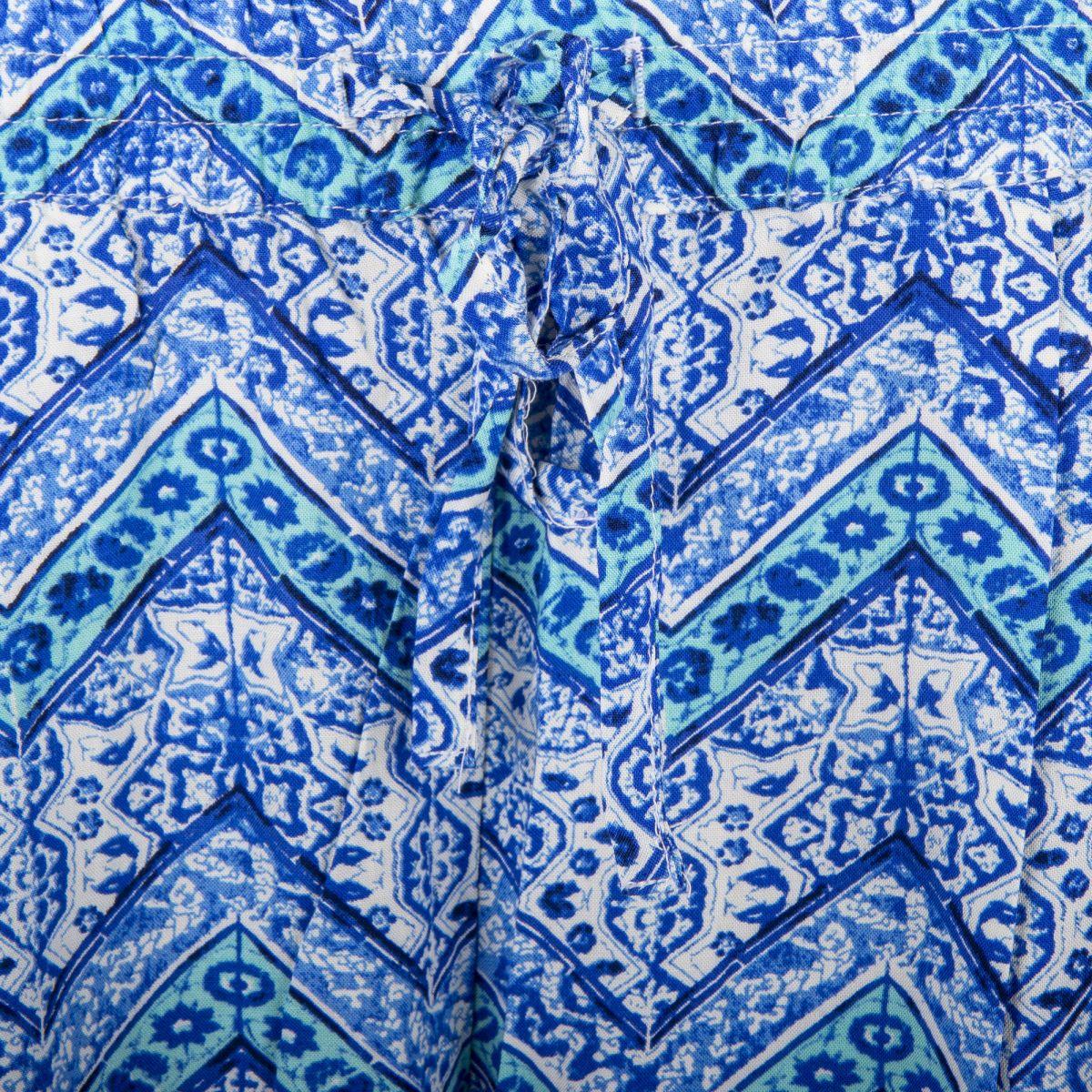 812a29b8beac ... Pantalon fluide imprimé bleu femme BEST MOUNTAIN marque pas cher prix  dégriffés destockage ...