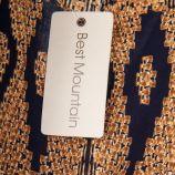 Robe portefeuille à motifs graphiques femme BEST MOUNTAIN marque pas cher prix dégriffés destockage