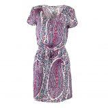 Robe à manches courtes col V et zip imprimés femme BEST MOUNTAIN marque pas cher prix dégriffés destockage