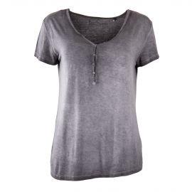 Tee shirt délavé col V à boutons femme BEST MOUNTAIN
