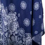 Poncho fin bleu marine à fleurs femme BEST MOUNTAIN marque pas cher prix dégriffés destockage