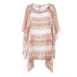 Haut motifs aztèques style poncho femme BEST MOUNTAIN