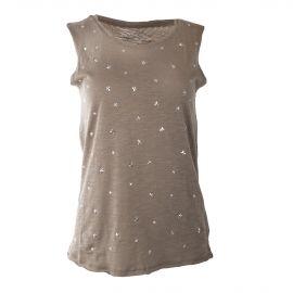 Débardeur en coton motif étoiles femme BEST MOUNTAIN marque pas cher prix dégriffés destockage