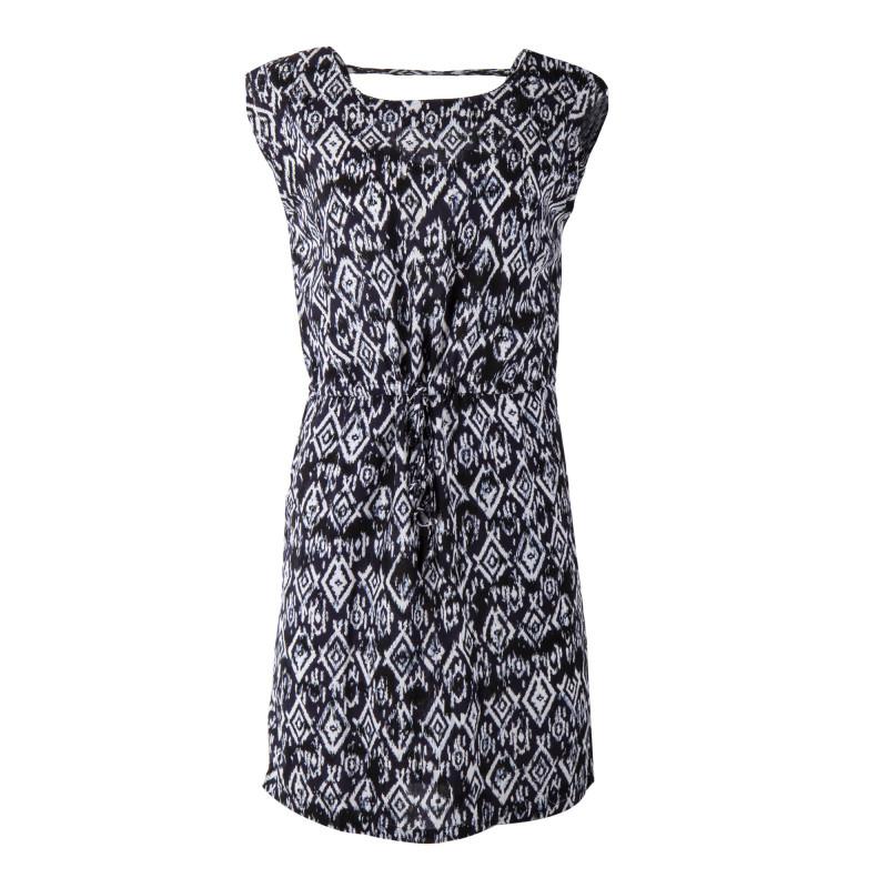 Robe bleue marine à imprimés graphiques femme BEST MOUNTAIN marque pas cher prix dégriffés destockage