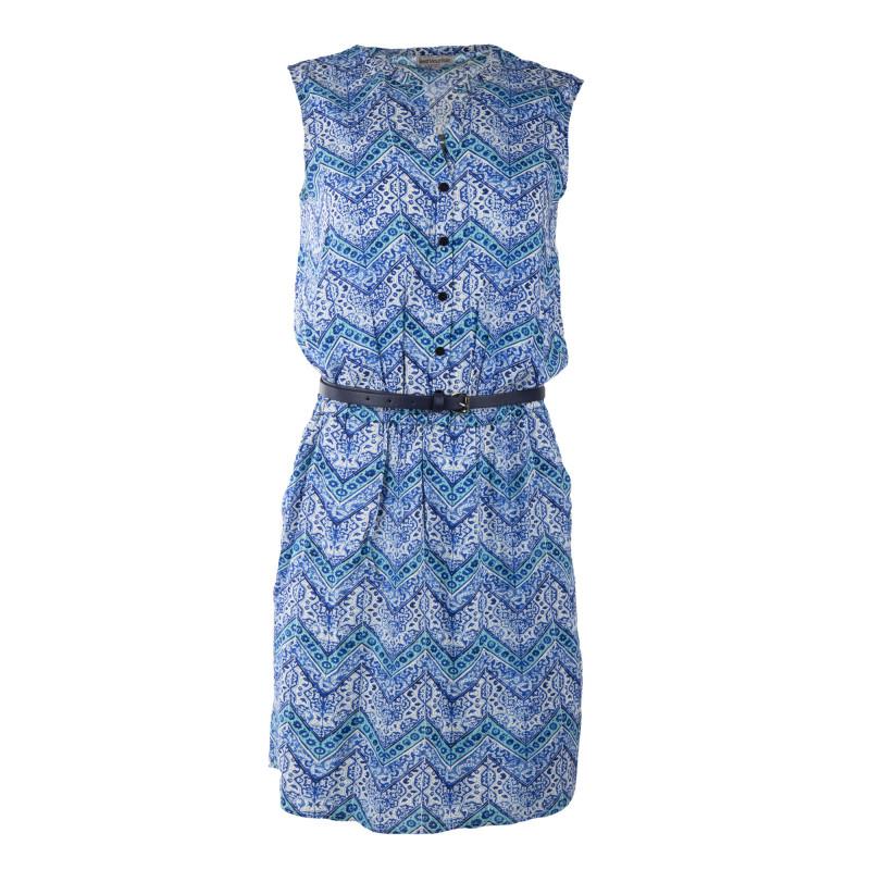 Robe bleu imprimée col V femme BEST MOUNTAIN marque pas cher prix dégriffés destockage