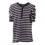 Tee shirt rayé bleu marine et blanc garçon BEST MOUNTAIN marque pas cher prix dégriffés destockage