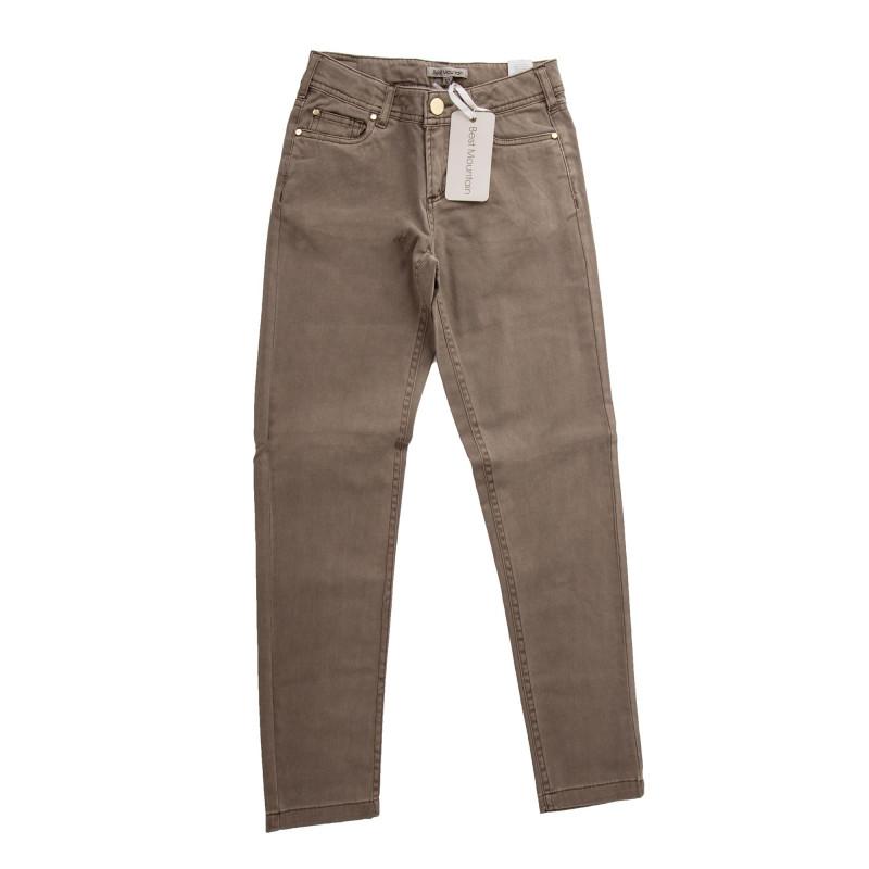 Pantalon en toile coupe slim fille BEST MOUNTAIN marque pas cher prix dégriffés destockage