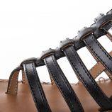 Sandales en cuir petit talon HERITA femme LES TROPEZIENNES marque pas cher prix dégriffés destockage