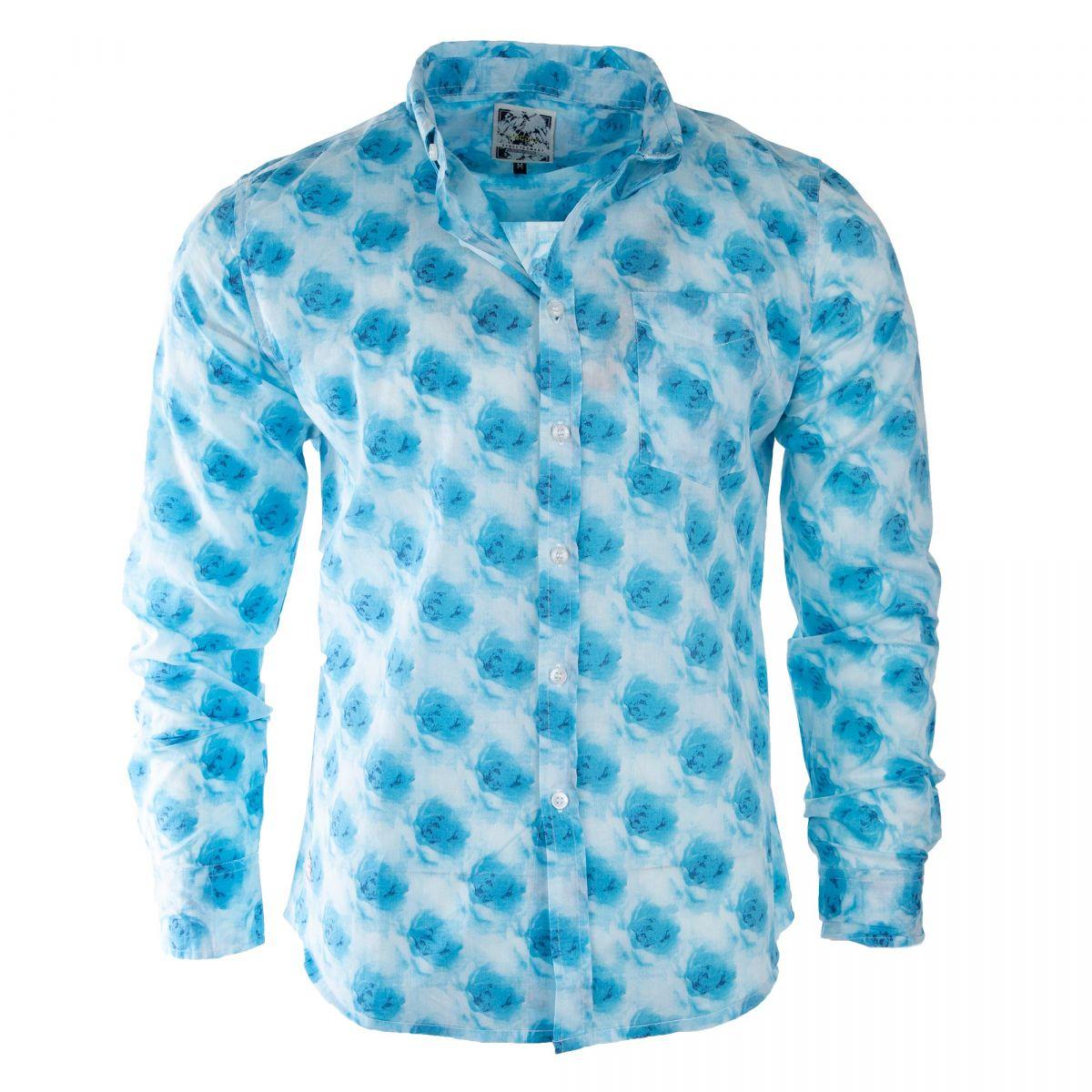 Lot de 3 chemises motif fleurs homme Biaggio à prix dégriffé ! a5365254d758