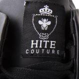 Baskets noires simili cuir homme HITE marque pas cher prix dégriffés destockage