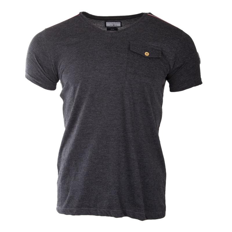 Tee shirt basique manches courtes homme BIAGGIO marque pas cher prix dégriffés destockage