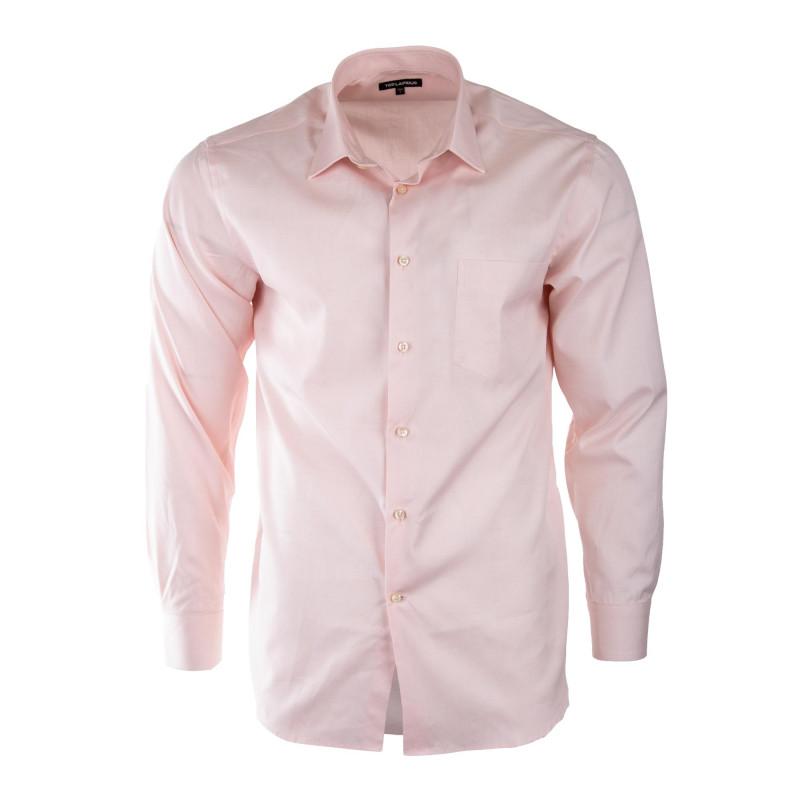 Chemise rose clair manches longues homme TED LAPIDUS marque pas cher prix dégriffés destockage