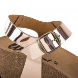 Sandales compensées rose gold femme WHY LAND marque pas cher prix dégriffés destockage